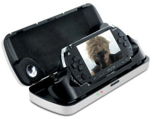 Nyko PSP Theatre Experience Aluminum Charger Case-Built in Speakers NEW/SEALED