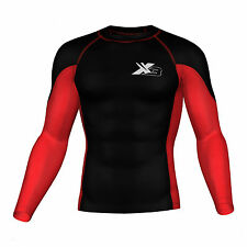 Mens Compression Top Skin fit Active wear Base layer thermal Gym wear Rash guard