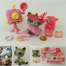 Authentic Littlest Pet Shop 391 Egyptian Cat Gray Around The World TIARA ACCESS.