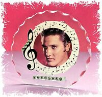 Elvis Presley 'In the Pink' Cut Glass Round Plaque Music Fan Limited Edition  #1