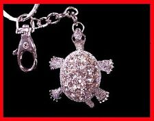 Crystal Diamond Turtle Keychain Key Fob Ring Free Sshipping