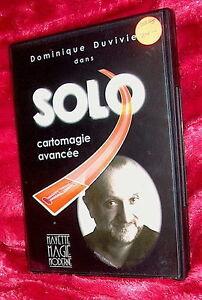 dvd DOMINIQUE DUVIVIER Solo-Advanced Card Magic Mayette 2003