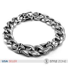 Fashion Vintage Gothic Men's Stainless Steel Bracelet Rock Punk O Link Chain B18