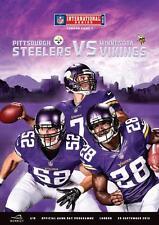 Minnesota Vikings V Pittsburgh Steelers NFL stade de wembley 2013