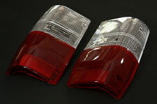 TAIL LIGHT CLEAR-RED LENSES LH+RH FOR MITSUBISHI MIGHTY MAX 1987-1996 DODGE D-50