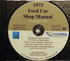 1973 FORD LTD COUNTRY SQUIRE MERCURY MARQUIS MONTEREY BROUGHAM SHOP MANUAL CD