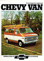 1974 Chevrolet Chevy Van Original Sales Brochure Catalog