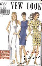 UNCUT Vintage New Look Sewing Pattern Misses Easy 2 Hour Dress 6383 8 - 18 OOP