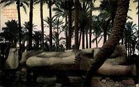 Memphis Ägypten Egypt ca. 1910 Statue Ramses UNESCO Welterbe Pharao ungelaufen