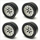 """Treal 1.9"""" Aluminum Beadlock Wheels (4) Rock Crawler Silver / Black"""