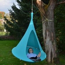 "40"" Kids Hanging Chair Swing Tent Set Hammock Nest Pod Seat Blue"
