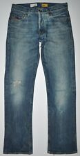 Energie Straight Morris Factory Distressed Jeans Button Fly Sz 28 X 31.5 AWESOME