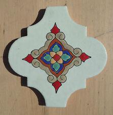 "9~Talavera Mexican Lantern Tiles 6-3/8 X 6-1/2"" gorgeous hi relief Arabesque"