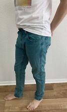 Pull&Bear Mens Skinny Fit Jeans. Size MEX 32/ EUR 42. Green. Denim.