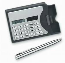 Lot of 60 Wholesale 3-in-1 Solar Powered Calculator, Pen & Business Card Holder