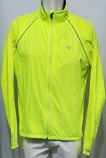 PEARL IZUMI Men's Ride Elite Barrier Convertible Jacket Neon Yellow L Fullzip