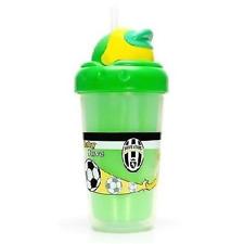 Tazza termica con tappo borraccia con cannuccia baby Juve confezionata