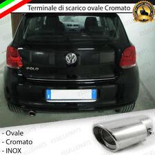 TERMINALE DI SCARICO PER MARMITTA FINALINO CROMATO INOX VW POLO 6R