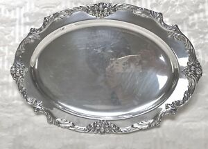 """REED & BARTON Silver Plate 19"""" Serving Platter Tray KING FRANCIS Polished!"""