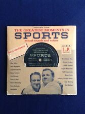 The Greatest Moments in Sports Actual Sounds and Voices 331/2 RPM Long Play