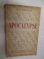 """R. A. Harold """"Apocalypse"""" /Editions La Caravelle 1949"""