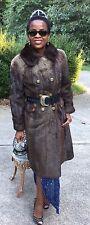 Mint Designer Bronze sable color Lontra canadensis otter Fur Coat Jacket S 0-6/8