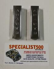 FIAT 500 F - L - R COPPIA STAFFE ALZACOFANO ABARTH CROMATE
