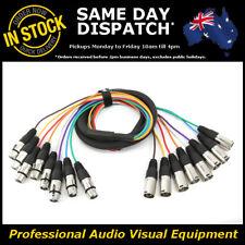 2-Metre 8-Way XLR Multicore Male-Female M-F Microphone Mic Cable Lead Cord 2M