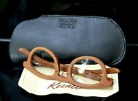 Wooden oval eyeglasses made by kezati