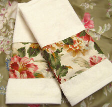 POST ROAD  2 Custom Hand Towels DECORATED W/ NEW Ralph Lauren fabric