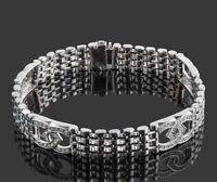 4.80Ct Brilliant Round Cut Diamond Men Engagement Bracelet 14k White Gold Finish