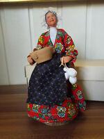 ANCIEN grand SANTON  terre cuite France 20cm Femme potière signé AMY boîte