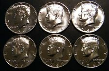1964 1965 1966 1967 1968 S 1969 S Kennedy Proof Half Dollar 6 Coin Set Silver US