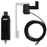 Universal USB DAB Module Dongle Aerial Glass Mount Antenna For Android GPS Radio