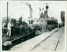 1914 World War I British Marines Fire at Planes Original News Service Photo