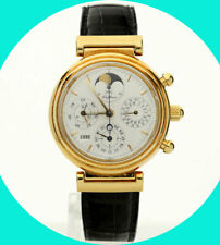 IWC Da Vinci 18K yellow gold perpetual calendar moon phase #3750 watch 39MM +box