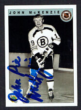 John Pie McKenzie #52 signed autograph 1992 Ultimate Original Six Hockey Card