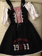 Wiesn Dirndl Oktoberfest Landhaus Kleid XS S 34 36 Minikleid Trachten Fasching
