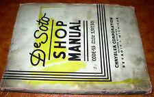 1937 DeSoto De Soto Shop Manual Airstream Six S3
