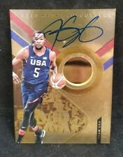 Kevin Durant #09/20 2017-18 Panini Opulence USA Gold Metal 14k AUTO SP Autograph