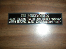 THE HONEYMOONERS NAMEPLATE FOR SIGNED PHOTO/MEMORABILIA
