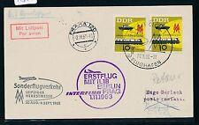 74354) DDR if FF Berlino-Praga 1.11.63, cartina Zul. fiera-SF Lipsia-Praga