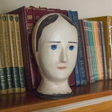 Vintage Milliners Head - Papier Paper Mache Model Head - Marotte Mannequin