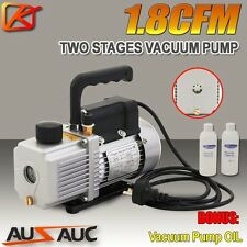 1.8CFM 2 Stages Refrigerant Vacuum Pump Refrigeration Gauges Tools Air Condition