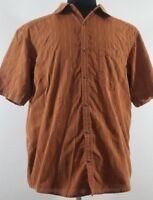 Mountain Hardwear mens large shirt Short Sleeve Button Up organic cotton blend