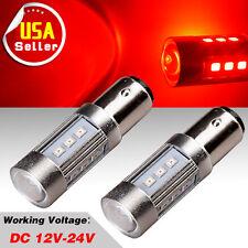 2x Red 1157 High Power 15W LED Light Bulbs Tail Brake Stop Turn Signal 7528 1142