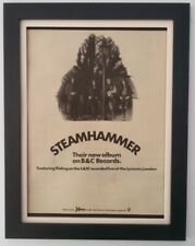 STEAMHAMMER*Album*1970*RARE*ORIGINAL*POSTER*AD*FRAMED*FAST WORLD SHIP