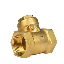 "1-1/4"" BSPP Female Brass Swing Check Valve 232Psi Prevent Water Backflow"