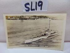 VINTAGE 1920'S US NAVY PICTURE POSTCARD SUBMARINE SUB S-26 SURFACE SPEED RUN
