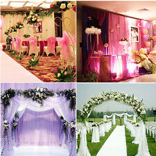 5m Sheer Organza Fabric Beach Wedding Ceremony Bouquet Arch Venue Decoration TM
